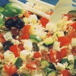 Салат из цуккини с брынзой