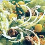 Салат с мясом и чечевицей