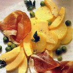 Салат с дыней и окороком