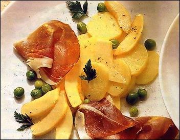 Салат из дыни и окорока