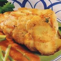 Жаренная рыба с картофелем